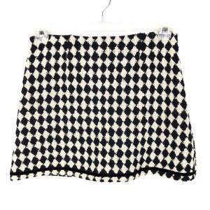 Trina Turk Harlequin Checkerboard Mini Wool Skirt